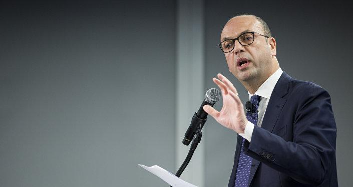 Angelino Alfano, ministro de Exteriores de Italia (archivo)