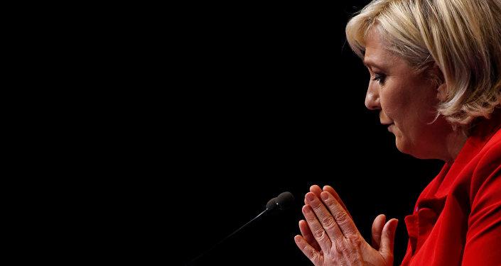 Marine Le Pen, diputada francesa y presidenta del partido Agrupación Nacional