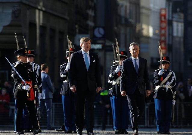 Willem Alexander, rey de Holanda, y Mauricio Macri, presidente de Argentina