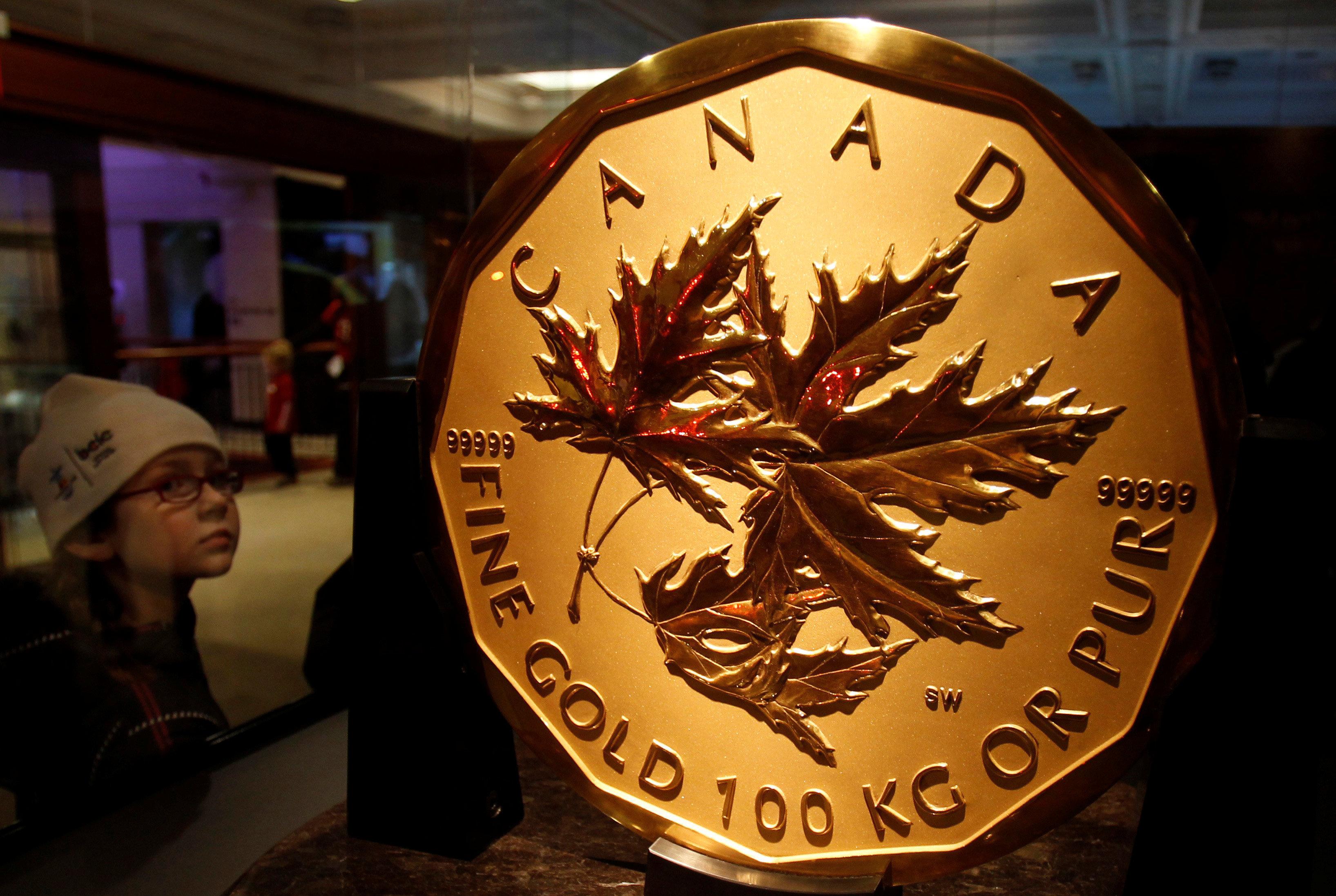 La hoja de arce canadiense de 1.000.000 de dólares