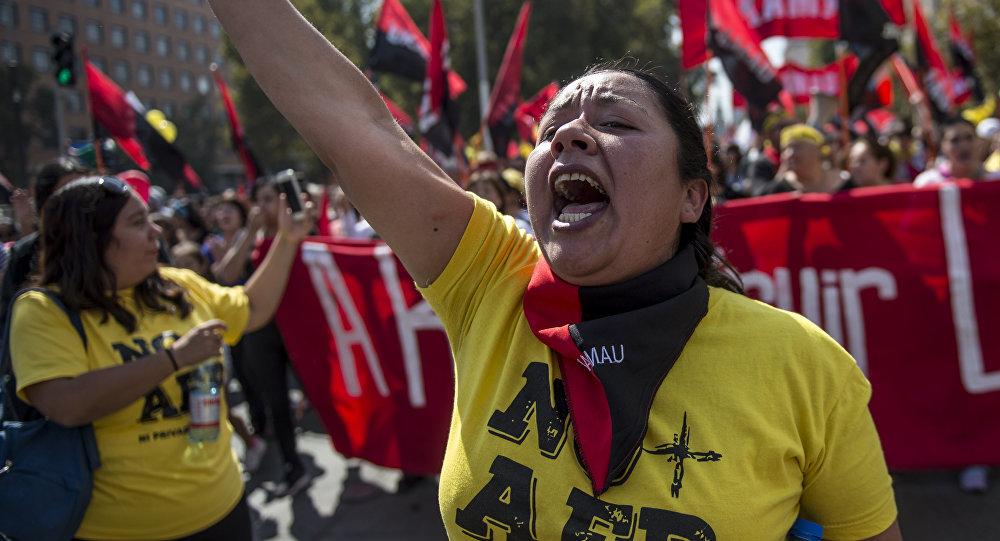 Manifestaciones de protesta contra el sistema de pensiones privado en Chile