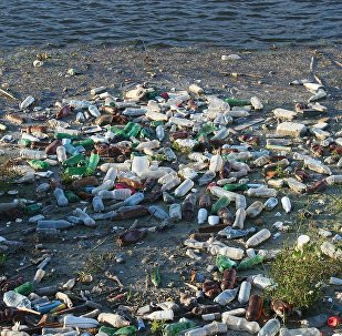 Basura al borde de un río, imagen ilustrativa