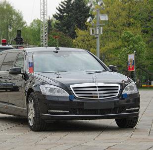 El automóvil del presidente ruso (Archivo)
