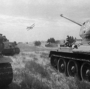 La Segunda Guerra Mundial. Las tropa soviéticas en el primer día de la guerra con Japón (archivo)