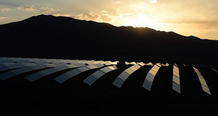 Un central solar ruso
