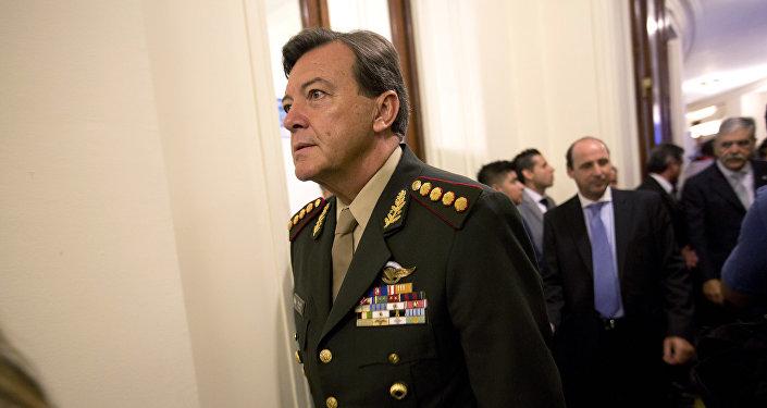 César Milani, exjefe del Ejército argentino (archivo)