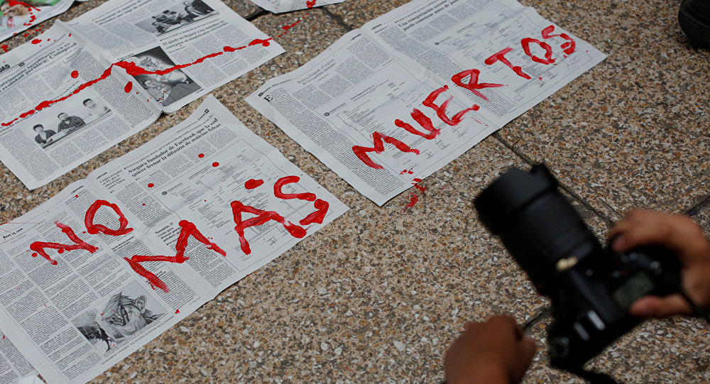 Manifestación contra muertes de periodistas en México