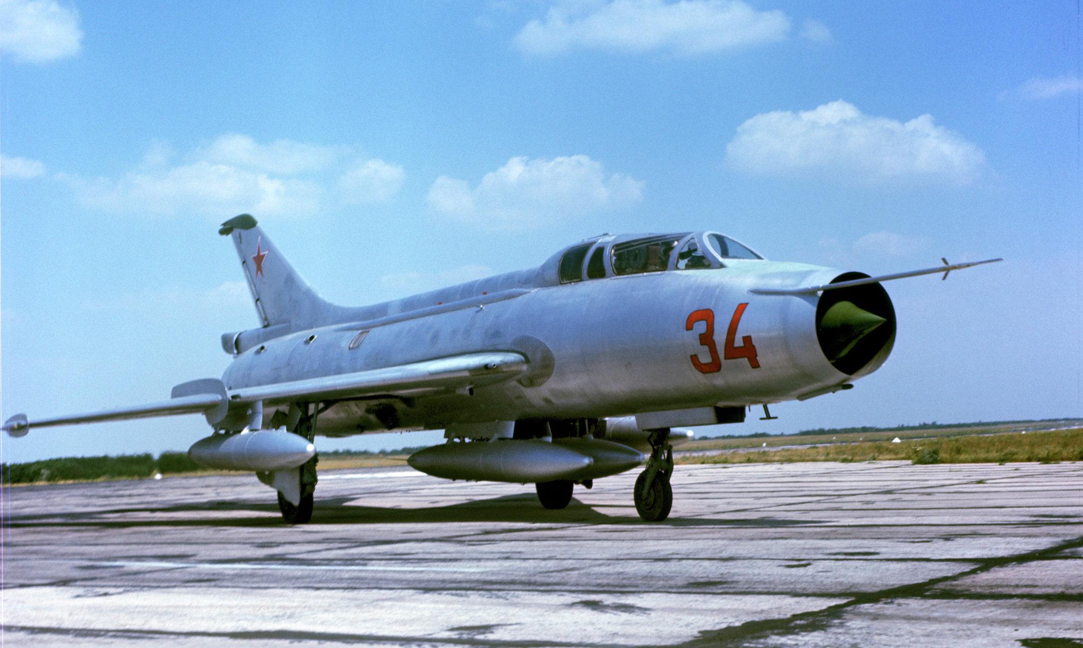 Un caza supersónico de fabricación soviética MiG-21