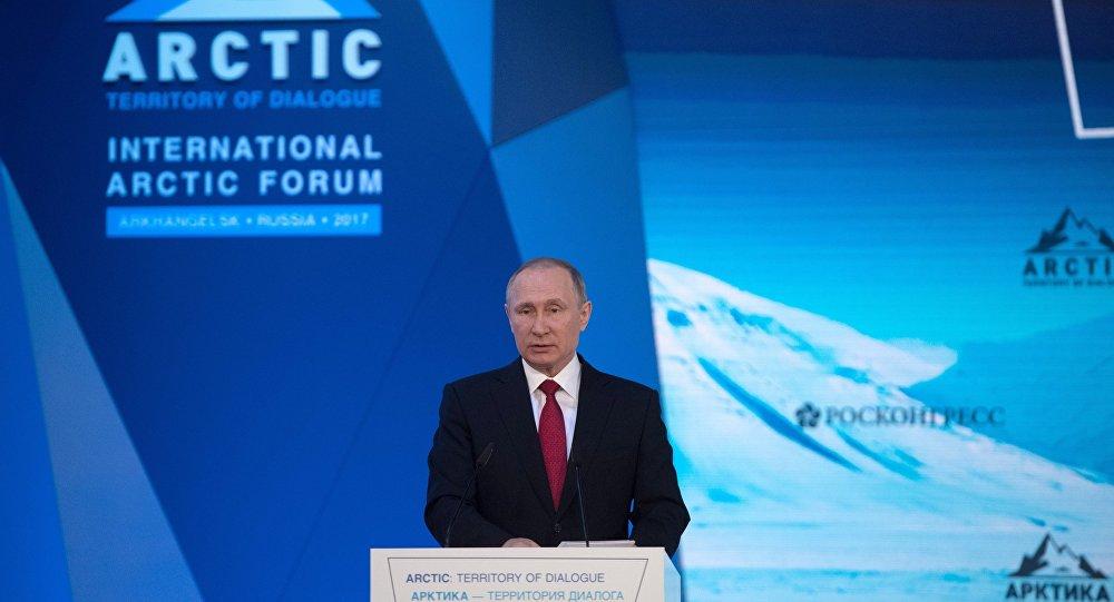 Vladímir Putin, presidente de Rusia, en el Foro Internacional Ártico