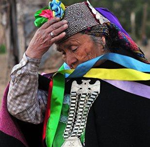 Una mujer indígena en la región chilena de Araucanía (archivo)