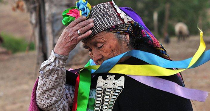 Una mujer mapuche