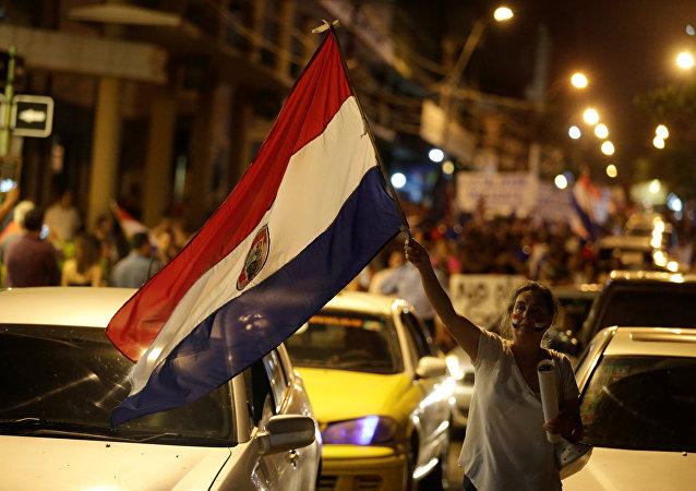 Protesta en Paraguay