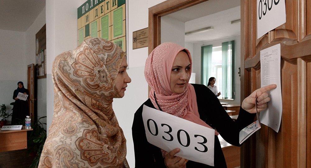 En una escuela en Grozni, Chechenia (archivo)