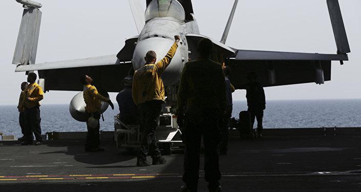 Militares estadounidenses en el golfo Pérsico