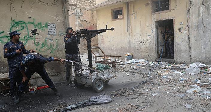 La policía federal de Irak en Mosul (archivo)