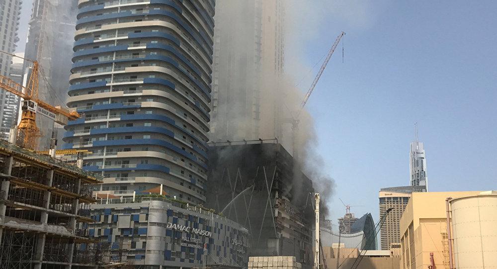 Incendio en el rascacielos en Dubái