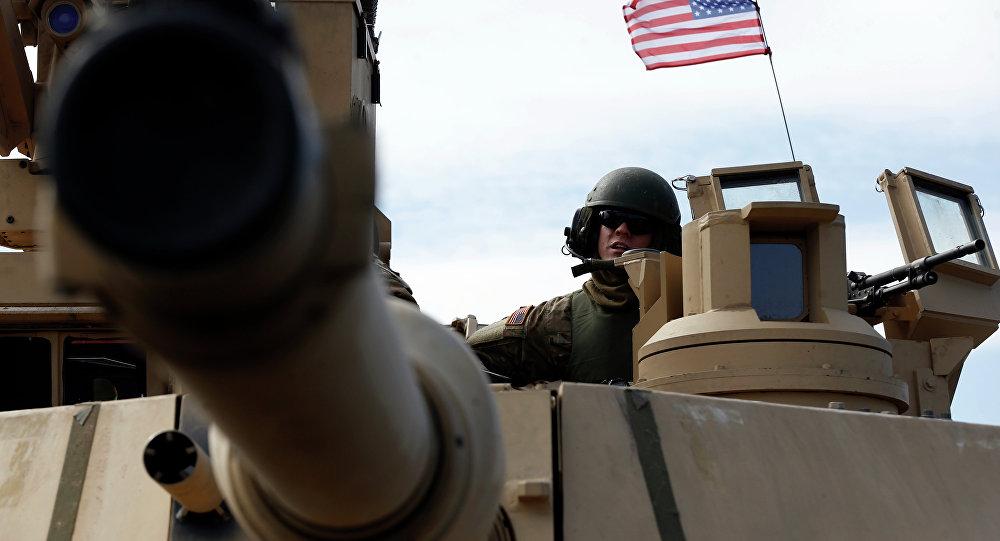 Un tanque Abrams norteamericano