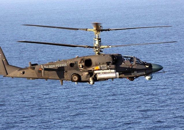 Helicóptero ruso Ka-52K Katran  (imagen referencial)