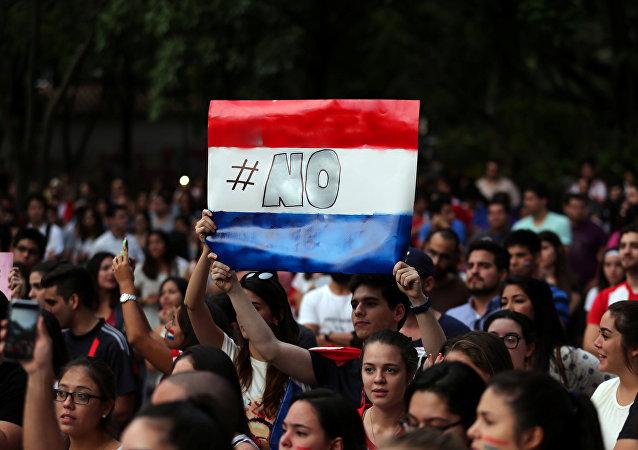 La protestas en Paraguay