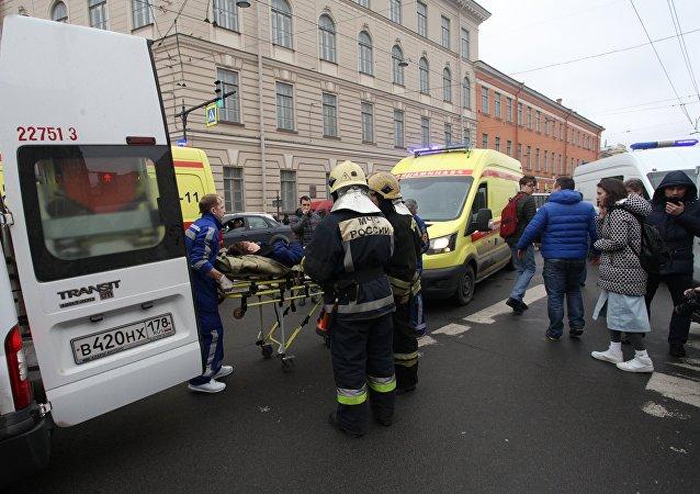 Un herido tras explosión en el metro de San Petersburgo