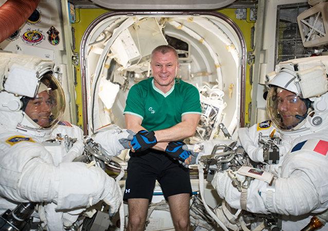 Cosmonautas de la NASA, Roscosmos y la ESA (archivo)