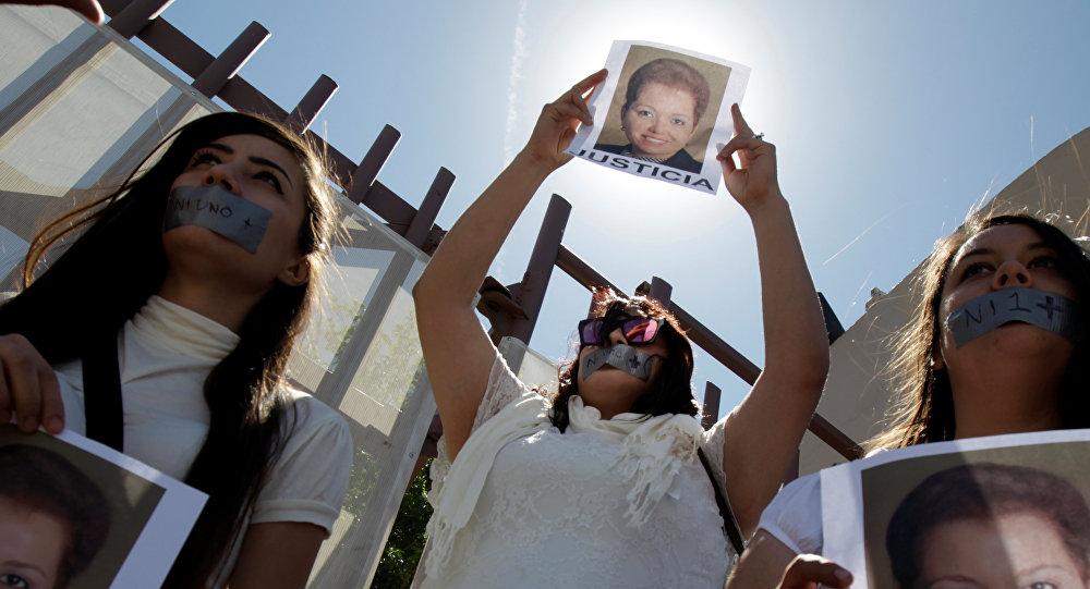 Protesta de periodistas por el asesinato de Miroslava Breach