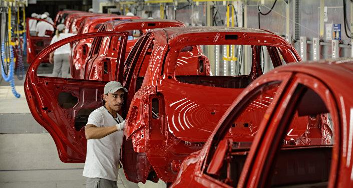 Fábrica de coches en Brasil (archivo)