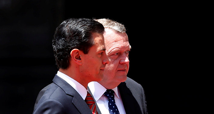Enrique Peña Nieto, presidente de México, y Lars Lokke Rasmussen, primer ministro de Dinamarca