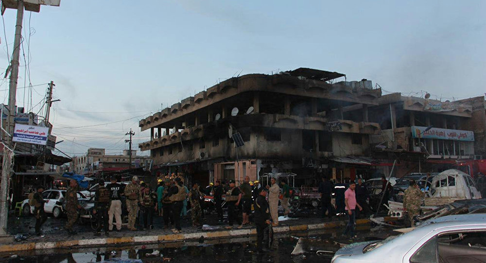 Ciudad iraquí de Tikrit tras una explosión (archivo)
