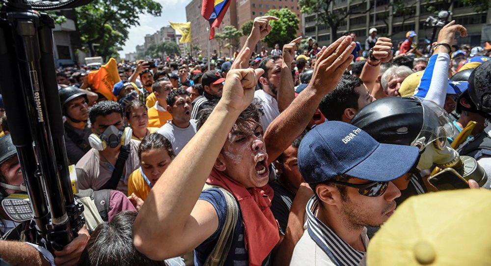 Protestas de la oposición en Venezuela (archivo)