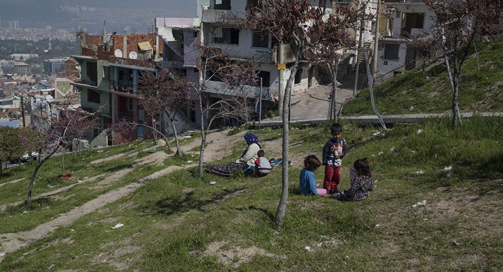 Refugiados sirios en Esmirna