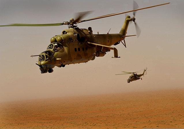 Helicópteros Mi-35 de la Fuerza Aérea afgana