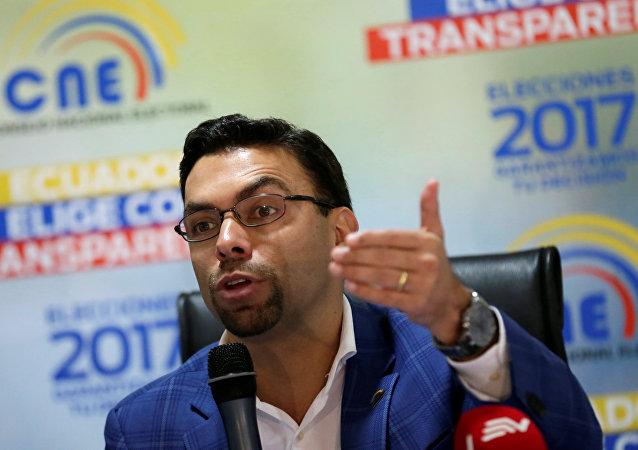 Presidente del CNE de Ecuador, Juan Pablo Pozo