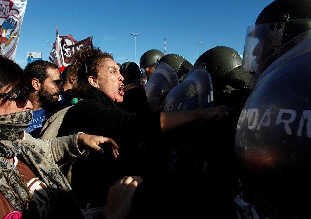Protestas en Buenos Aires (archivo)