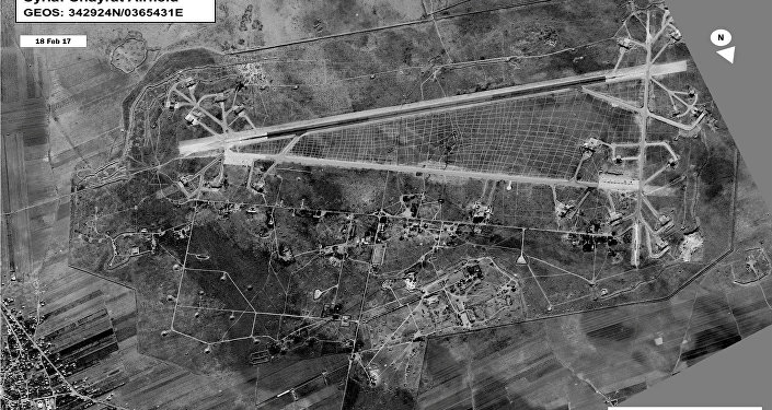 Base aérea de Shairat en la provincia siria de Homs