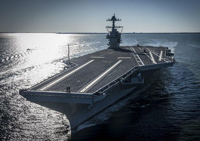 El portaviones estadounidense Gerald R. Ford