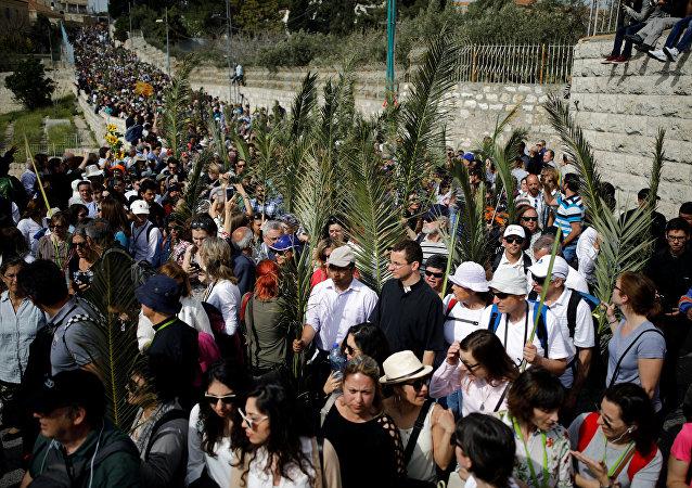 Procesión tradicional del Domingo de Ramos