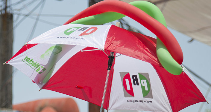 Paraguas con logo de PRI