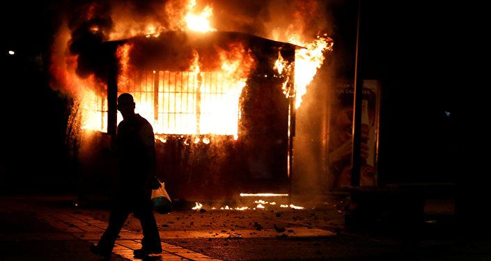 Los disturbios en Caracas