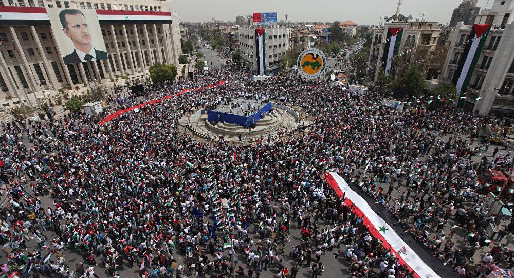 Manifestación en Damasco (archivo)