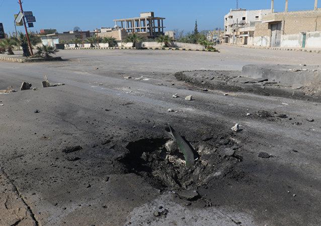 Situación en Jan Sheijun tras el presunto ataque químico, Siria