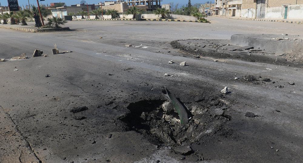 Lugar del ataque químico en Jan Sheijun, Idlib, Siria