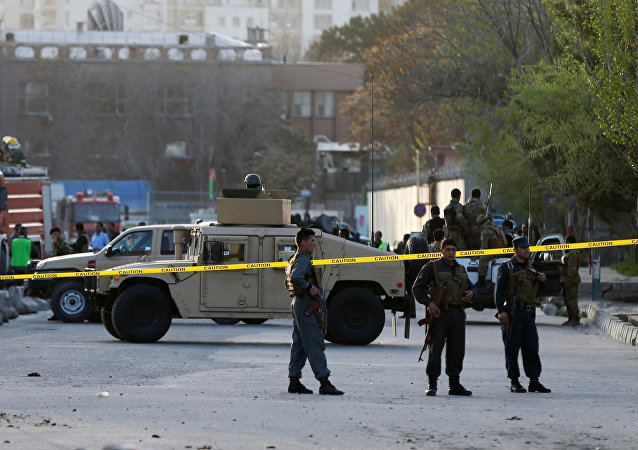 La policía de Afganistán en el lugar del atentado (archivo)