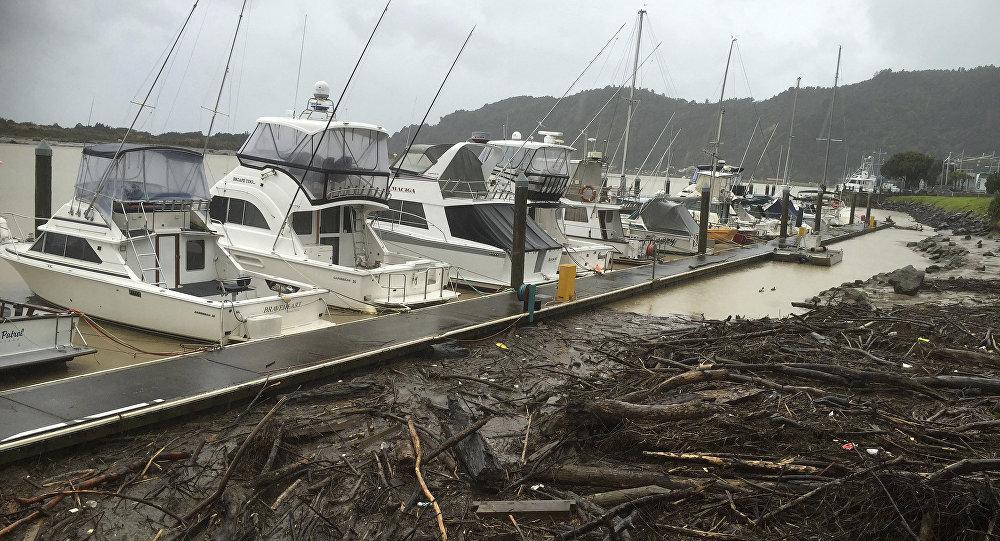 Consecuencias de una tormenta en Nueva Zelanda