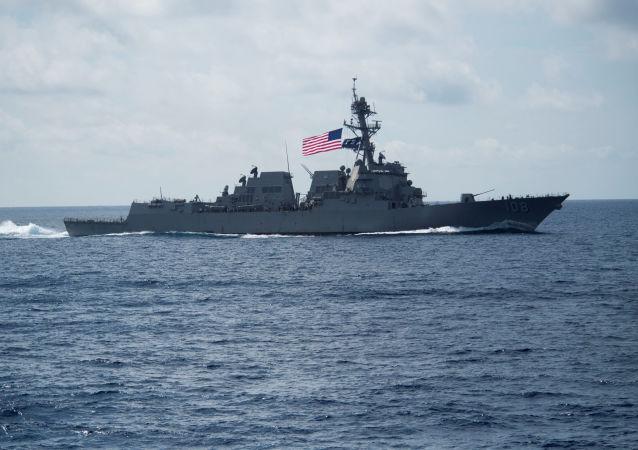 El destructor estadounidense de misiles guiados USS Wayne E. Meyer