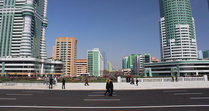 La ceremonia de la inauguración del distrito Ryomyong en Pyongyang