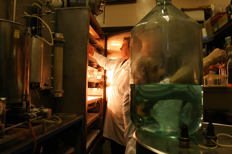 Un empleado del Instituto de Geoquímica y Química Analítica Vernadski