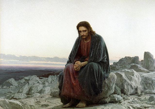 'Cristo en el desierto', cuadro del artista Iván Kramskói (reproducción)