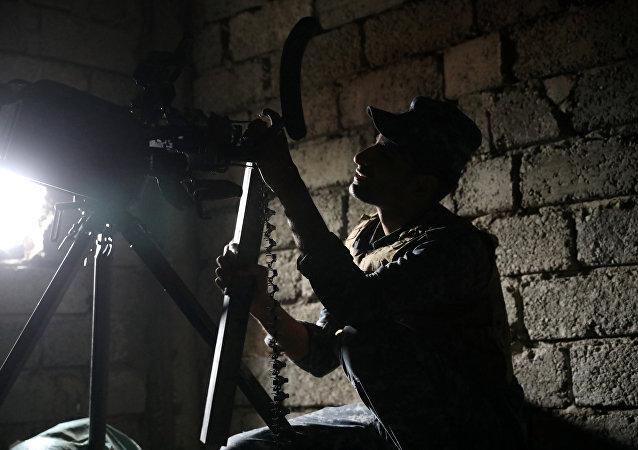 Un agente de la Policía federal de Irak en Mosul