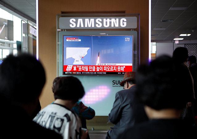El lanzamiento fallido de misil de Corea del Norte (archivo)